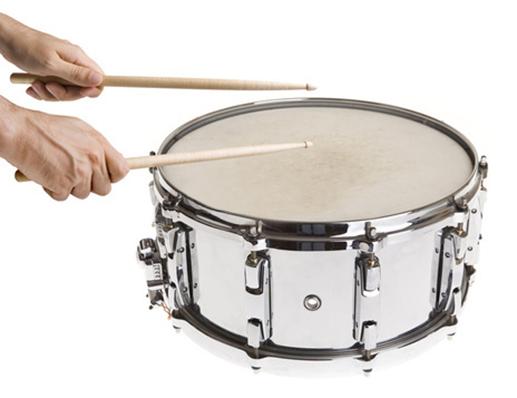 Holding Drumsticks